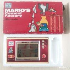 Juguetes antiguos y Juegos de colección: GAME AND WATCH. MARIO´S CEMENT FACTORY. Lote 147760986