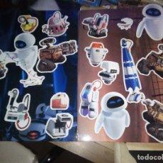 Juguetes antiguos y Juegos de colección: 17 DISNEY PIXAR IMANES DE WALL-3 Y TABLERO METALICO DONDE SE PEGAN . Lote 149865290
