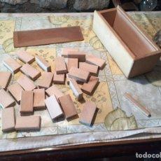 Juguetes antiguos y Juegos de colección: ANTIGUO JUEGO DE DOMINÓ SIN ACAVAR EN MADERA AÑOS 60-70. Lote 151172154