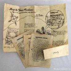 Juguetes antiguos y Juegos de colección: UNICO!!! MAPA Y CARTAS REGRESO AL FUTURO. DOC BROWN A MARTIN MCFLY. Lote 151454510
