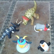 Juguetes antiguos y Juegos de colección: LOTE DE 5 ANIMALES DE JUGUETE ARTICULADOS Y MECANICOS, DINOSAURIOS PERRO PINGUINOS. Lote 151549246