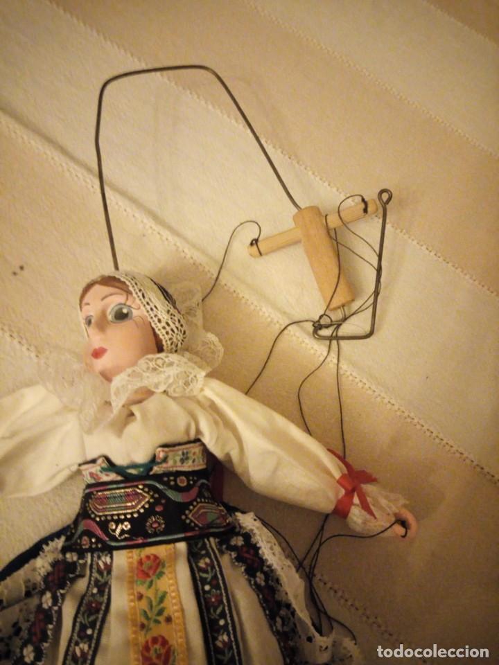 Juguetes antiguos y Juegos de colección: Bonita marioneta regional suiza,madera y pastas ,pintada a mano. - Foto 2 - 151596810