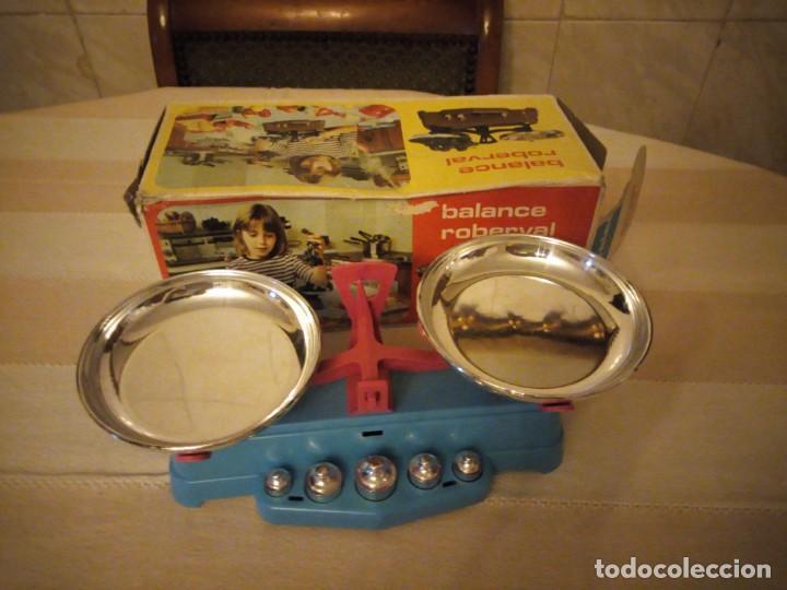 Juguetes antiguos y Juegos de colección: ,balanza ,balance roberval jouet waage mob. made in france,en caja original.años 70 - Foto 2 - 151873478