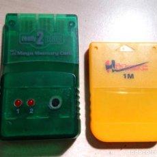 Juguetes antiguos y Juegos de colección: MEMORY CARD. LOTE DE DOS MEMORY CARD.PLAYSTASTION.. Lote 152524098
