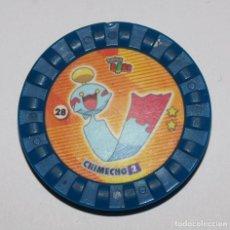 Juguetes antiguos y Juegos de colección: TAZO POKEMON ROKS 28 CHIMECHO 2 VER FOTOS Y DESCRIPCION. Lote 152655690