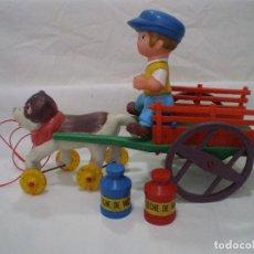 Juguetes antiguos y Juegos de colección: ARRASTRE DE PEDRO Y NIEBLA AMIGOS DE HEIDI AÑOS 70. Lote 152864410