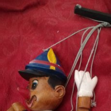 Juguetes antiguos y Juegos de colección: ANTIGUA MARIONETA DE MADERA DE PINOCHO. Lote 152921590