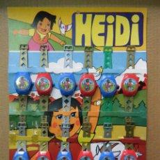 Juguetes antiguos y Juegos de colección: DOCE RELOJES HEIDI. ROMAGOSA. AÑOS 70.. Lote 155790274