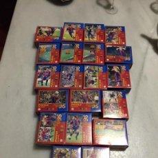 Juguetes antiguos y Juegos de colección: ANTIGUO LOTE DE 20 PUZZLES SUPER BARÇA 96 - FC BARCELONA - EL MUNDO DEPORTIVO. Lote 156566942