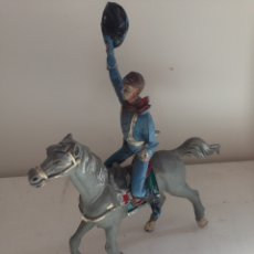Juguetes antiguos y Juegos de colección: ANTIGUO CABALLO Y GINETE. Lote 158446860