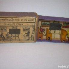 Juguetes antiguos y Juegos de colección: ANTIGUO Y PEQUEÑO DIORAMA EN CAJA DE CERILLAS.. Lote 159247506