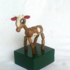 Juguetes antiguos y Juegos de colección - Muñeco Articulado de Madera:Torito (Años ´60- Industria argentina) Impecable!!! - 161182462