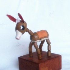 Juguetes antiguos y Juegos de colección - Muñeco Articulado de madera: burrito (años ´60 - Industria Argentina) Impecable !!! - 161183134