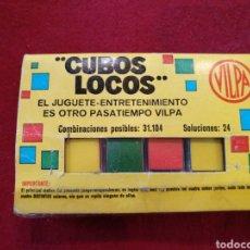 Juguetes antiguos y Juegos de colección: CUBOS LOCOS DE VILPA. PASATIEMPOS. Lote 161440833