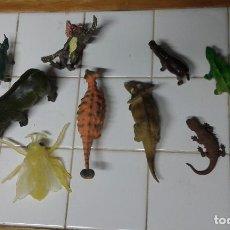 Jouets Anciens et Jeux de collection: LOTE ANIMALES ANTIGUOS DE GOMA. Lote 161875058