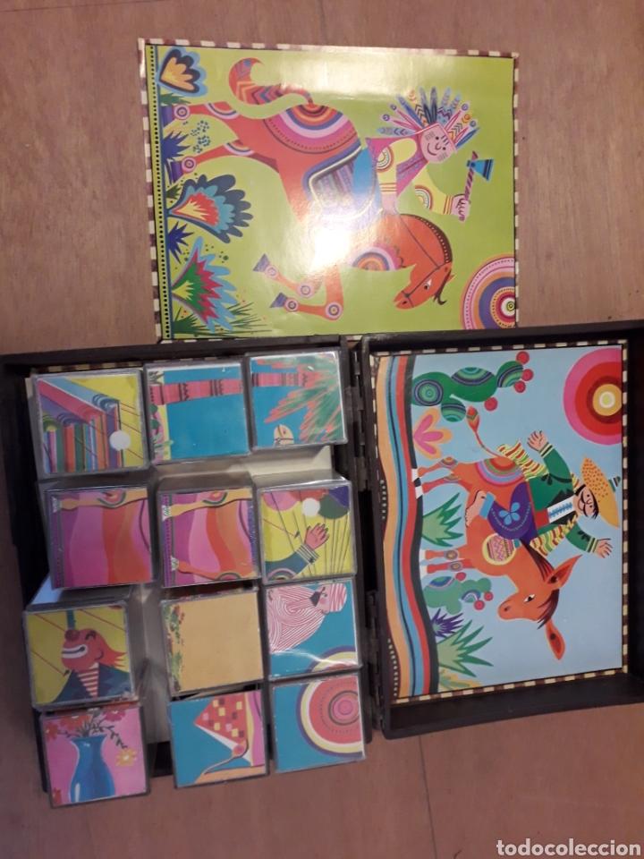 Juguetes antiguos y Juegos de colección: Rompecabezas Maxims cubos lavables 19 cm - Foto 3 - 162445068