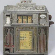 Juguetes antiguos y Juegos de colección: MAQUINA TRAGAPERRAS DAVAL CHICAGO CLUB-HOUSE. ART-DECO. Lote 163132470