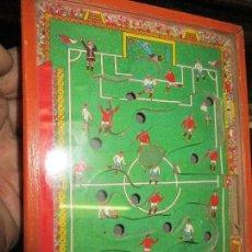 Juguetes antiguos y Juegos de colección: PINBALL FUTBOL ANTIGUO JUGUETE MADERA REALIZADO EN DENIA ALICANTE. Lote 163543006