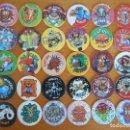 Juguetes antiguos y Juegos de colección: LOTE 30 MAD CAPS, LIGHT CAPS Y LASER CAPS - WORLD CAPS AUTHENTIC FEDERATION - TAZOS (FU). Lote 164693226