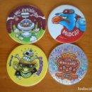 Juguetes antiguos y Juegos de colección: LOTE 4 MAD CAPS Y LASER CAPS - WORLD CAPS AUTHENTIC FEDERATION - TAZOS (R2). Lote 164694098