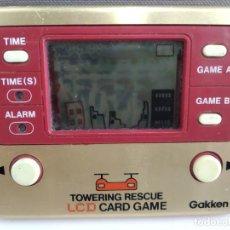 Juguetes antiguos y Juegos de colección: ANTIGUA MAQUINITA TIPO GAME WATCH DE GAKKEN TOWERING RESCUE . Lote 165317346