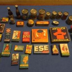 Juguetes antiguos y Juegos de colección: LOTE MINIATURAS DE ULTRAMARINOS. ARTIACH, PEPSI, SAN MIGUEL, LA PIARA, ETC. 37 PIEZAS.. Lote 165358686