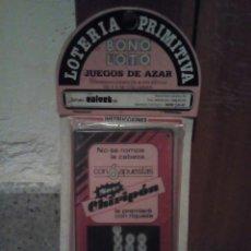 Juguetes antiguos y Juegos de colección: JUEGO DE LOTERÍA PRIMITIVA JUEGOS DE AZAR AÑOS 90 EN BLISTER. Lote 165893684