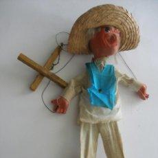 Juguetes antiguos y Juegos de colección: ANTIGUA MARIONETA TÍTERE MEXICANO EN CARTÓN PIEDRA Y MADERA. Lote 167724512