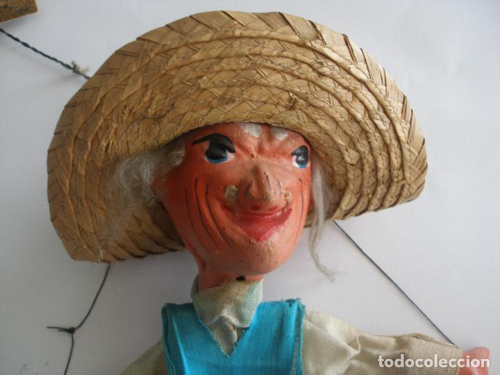 Juguetes antiguos y Juegos de colección: Antigua marioneta títere mexicano en cartón piedra y madera - Foto 2 - 167724512