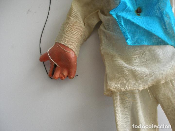 Juguetes antiguos y Juegos de colección: Antigua marioneta títere mexicano en cartón piedra y madera - Foto 3 - 167724512