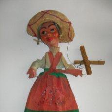 Juguetes antiguos y Juegos de colección: ANTIGUA MARIONETA TÍTERE MEXICANA EN CARTÓN PIEDRA Y DIVERSOS MATERIALES. Lote 167724908