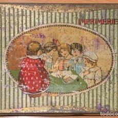 Juguetes antiguos y Juegos de colección: IMPRENTILLA FRANCESA IMPRIMERIE 117 CAJA HOJALATA. Lote 167833388