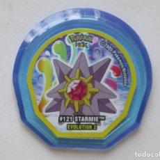 Juguetes antiguos y Juegos de colección: TAZO NOX DE POKÉMON #121 STARMIE EVO. 2, NINTENDO 2005. Lote 168661728