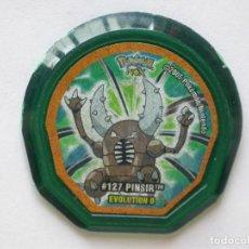 Jouets Anciens et Jeux de collection: TAZO NOX DE POKÉMON #127 PINSIR EVO. 0, NINTENDO 2005. Lote 168661996