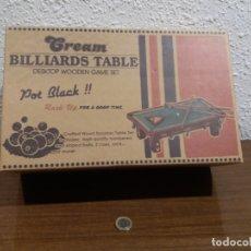 Juguetes antiguos y Juegos de colección: BILLAR MINIATURA (CREAM BILLIARDS TABLE). Lote 168865384