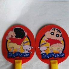 Juguetes antiguos y Juegos de colección: PALAS PING PONG SHINCHAN PROMOCIÓN COLA CAO. Lote 169060994
