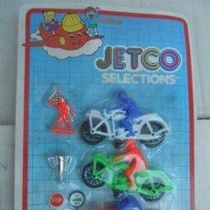 Juguetes antiguos y Juegos de colección: BLISTER MOTOS KIOSKO BARATIJAS AÑOS 70 JETCO SELECTION NUEVOS SIN USO DE ALMACEN ANTIGUO. Lote 277078353