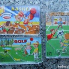 Juguetes antiguos y Juegos de colección: LOTE 3 JUEGOS BOLSILLO KIOSKO AÑOS 80 MARCA CHICOS FABRICADO EN ESPAÑA. Lote 169477682
