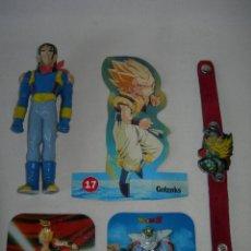 Brinquedos antigos e Jogos de coleção: LOTE DE ARTÍCULOS DE DRAGON BALL - BOLA DE DRAGÓN - RELIEVE PASCUAL, PULSERA. CROMO BOOMER, FIGURA -. Lote 170303616