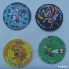 Juguetes antiguos y Juegos de colección: LOTE DE 4 TAZOS DE POKEMON , DOS DE TAZO LEAGUE . MATUTANO. Lote 171008094