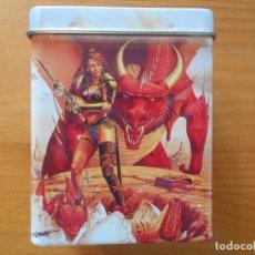 Juguetes antiguos y Juegos de colección: CARD BOX - CAJA PARA MAZOS DE METAL - CAPACIDAD PARA 80 CARTAS (DD). Lote 171616017