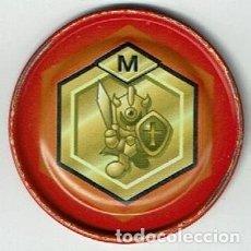 Jouets Anciens et Jeux de collection: COLECCIÓN TAZOS MAGIC BOX INT. MEDABOTS METAL RAPPERS TAZO METÁLICO CAPS POGS Nº 35 LETRA M 1999. Lote 172218074