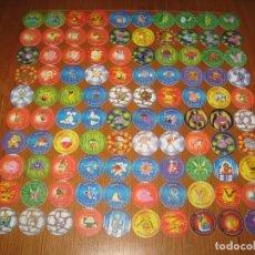 Juguetes antiguos y Juegos de colección: MATUTANO POKÉMON TAZO 2 COLECCIÓN COMPLETA 100 TAZOS CAPS POGS MEWTWO EVOLUCIONES PRIMERA SAGA. Lote 99327204