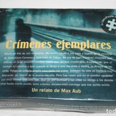 Juguetes antiguos y Juegos de colección: CRIMENES EJEMPLARES, MAX AUB, PUZZLE DEL LIBRO, LITERAPUZZLE CIRCULO DE LECTORES 2001, PRECINTADO. Lote 173993667