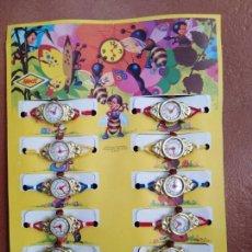 Brinquedos antigos e Jogos de coleção: BONITO BLISTER 12 RELOJES HEDI AÑOS 60 70 NUEVO A ESTRENAR DE ANTIGUA JUGUETERIA.KIOSKO PIPERO. Lote 217821673