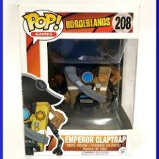 Juguetes antiguos y Juegos de colección: POP! GAMES BORDERLANDS 208 EMPEROR CLAPTRAP - NUEVO. Lote 176318793