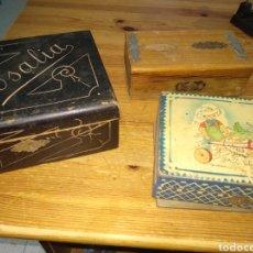 Juguetes antiguos y Juegos de colección: ANTIGUA CAJITA DE MADERA. Lote 176751018