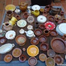 Juguetes antiguos y Juegos de colección: CACHARRITOS DE COCINA DE CERAMICA MINIATURA. Lote 176915839