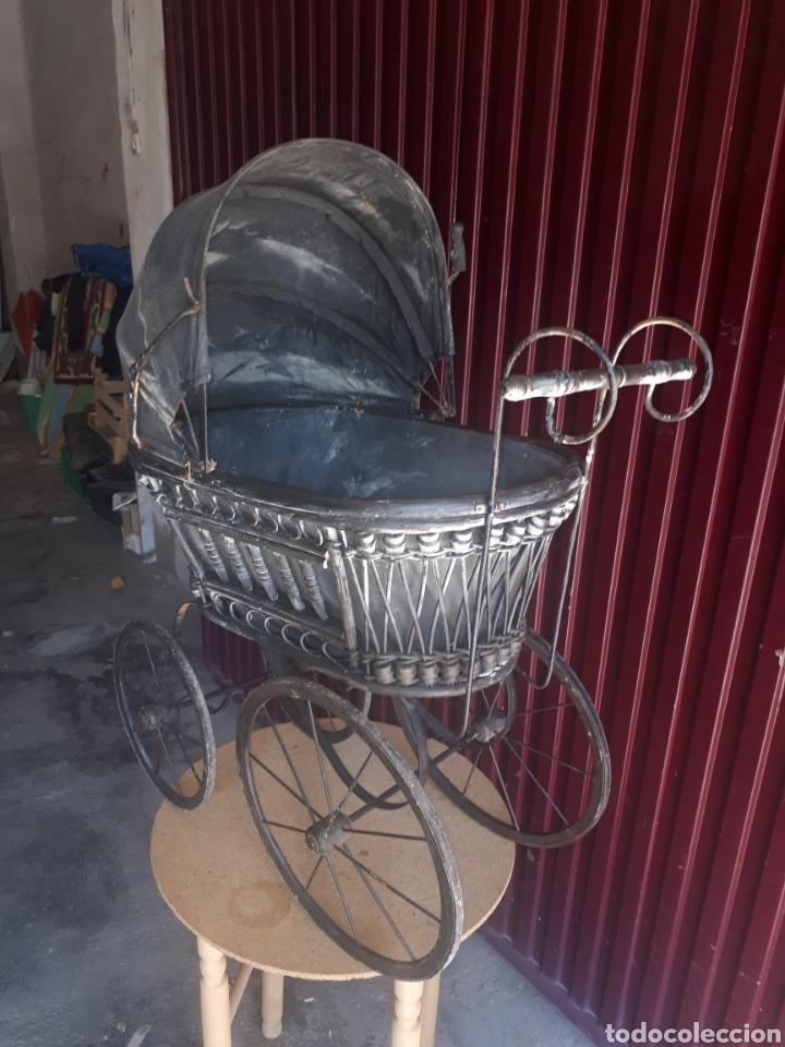 Juguetes antiguos y Juegos de colección: Antiguo carro carrito muñecas madera forja y tela - Foto 7 - 177636883