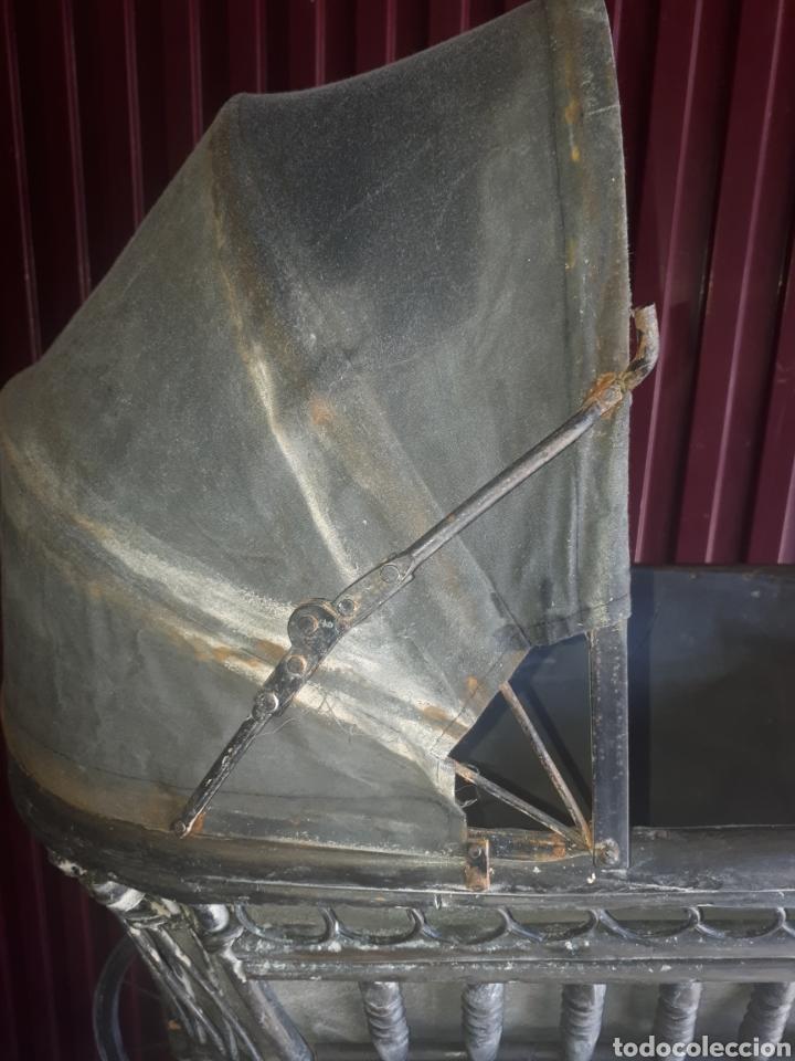 Juguetes antiguos y Juegos de colección: Antiguo carro carrito muñecas madera forja y tela - Foto 9 - 177636883